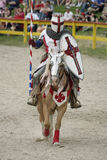 Jousting Knight. A Colorado Renaissance Festival performer prepares for the jousting competition Stock Photo