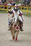Jousting Knight Stock Photo