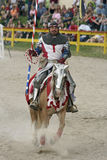 Jousting Knight. A Colorado Renaissance Festival performer prepares for the jousting competition Royalty Free Stock Photos