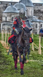 Jousting Knight On Horseback Stock Photography