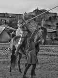 Jousting Knight On Horseback Royalty Free Stock Photography