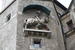 The Jousting Knight on horseback Statue Stock Photos