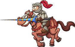 Jousting knight Royalty Free Stock Images