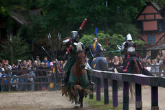 Jousting knights Royalty Free Stock Photo
