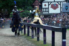 Jousting knights Royalty Free Stock Image