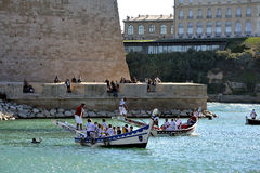 Jousting on the old port of Marseille Stock Photography