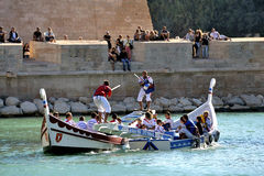 Jousting on the old port of Marseille Stock Images