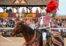 Jousting at the Renaissance Festival. Jousting held during the annual Renaissance Festival in Phoenix, Arizona Stock Photos