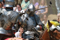 Jousting Riders Royalty Free Stock Photo