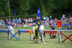 Jousting Tournament challenging knights Royalty Free Stock Images