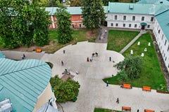 Joute sur le territoire du monastère. Image libre de droits