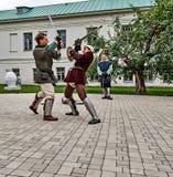 Joute sur le territoire du monastère. Image stock