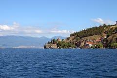 Jovan金郎教会Ohrid湖马其顿 库存图片