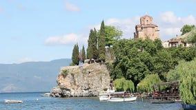 Jovan Kaneo kyrka Ohrid Makedonien arkivfilmer