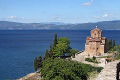 Jovan Kaneo orthodox church Ohrid Stock Photography