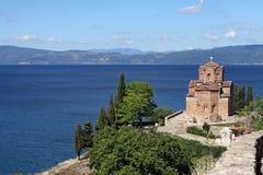 Jovan Kaneo orthodox church Ohrid Stock Photography