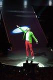 Jovanotti in concert. The italian singer Lorenzo 'Jovanotti' Cherubini pointing his finger during a concert Stock Photography
