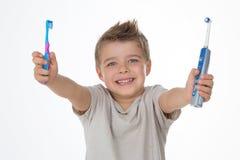 Jovem criança de sorriso Fotografia de Stock Royalty Free