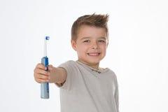 Jovem criança na pose da propaganda Fotografia de Stock