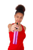 Jovem mulher afro-americana com cabelo afro Fotos de Stock