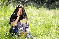 Jovens mulheres alegres Fotografia de Stock Royalty Free