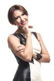 Jovem mulher amigável elegante Fotos de Stock Royalty Free
