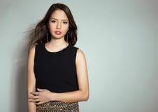 Jovem mulher asiática bonita com pele sem falhas fotografia de stock royalty free