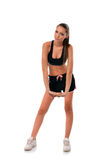 Jovem mulher atlética que faz o exercício Imagem de Stock