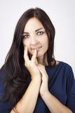 Jovem mulher bonita com olhar romântico Fotografia de Stock Royalty Free
