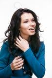Jovem mulher bonita com vôo do cabelo Imagens de Stock Royalty Free