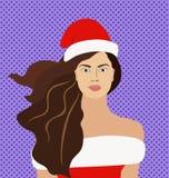 Jovem mulher bonita do Natal Imagens de Stock