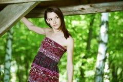 Jovem mulher bonita do retrato Imagens de Stock Royalty Free
