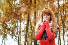 Jovem mulher bonita - retrato colorido do outono Foto de Stock Royalty Free