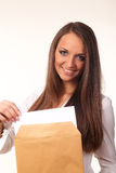 Mulher de negócio nova bonito Imagem de Stock Royalty Free