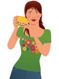 Amante do fast food Fotografia de Stock