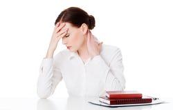 Jovem mulher cansado Imagem de Stock