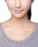 Jovem mulher com bordos bonitos Fotografia de Stock