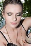 Modele com cabelo louro, composição, pele pálida fotos de stock