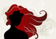 Jovem mulher com cabelo ondulado ilustração royalty free