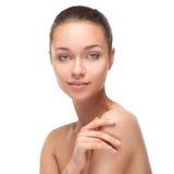 Jovem mulher com a cara saudável bonita Fotos de Stock Royalty Free