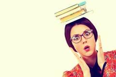 Jovem mulher com livros Foto de Stock Royalty Free