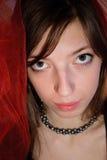 Jovem mulher com olhos grandes Imagens de Stock