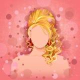 Jovem mulher com penteado elegante Imagens de Stock