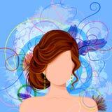 Jovem mulher com penteado elegante Foto de Stock Royalty Free