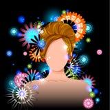 Jovem mulher com penteado elegante Fotos de Stock