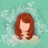 Jovem mulher com penteado elegante Imagens de Stock Royalty Free