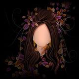 Jovem mulher com penteado elegante Imagem de Stock