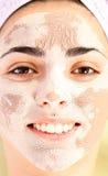 Tratamento da máscara da argila foto de stock