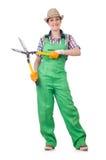 Jovem mulher com tesouras Foto de Stock Royalty Free
