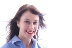 Jovem mulher com um relance feliz Foto de Stock